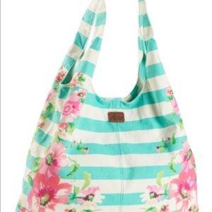 ⬇️ $24 Aero Floral Stripe Hobo Bag w/ coin purse.